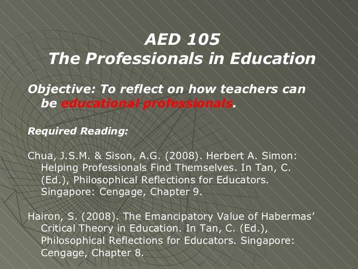 Seminar 3 Professionalism