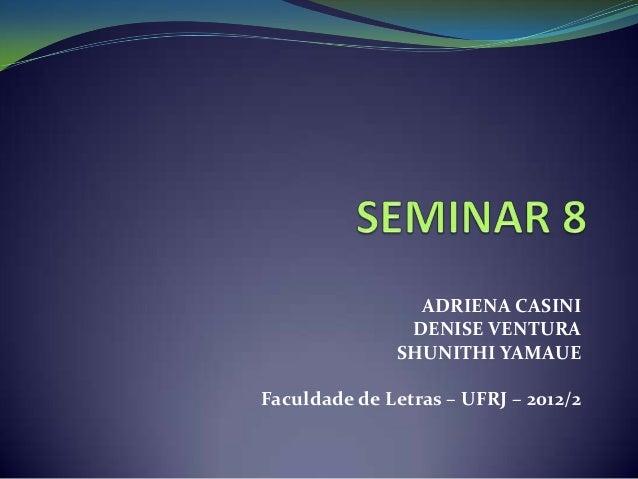 Seminar 8