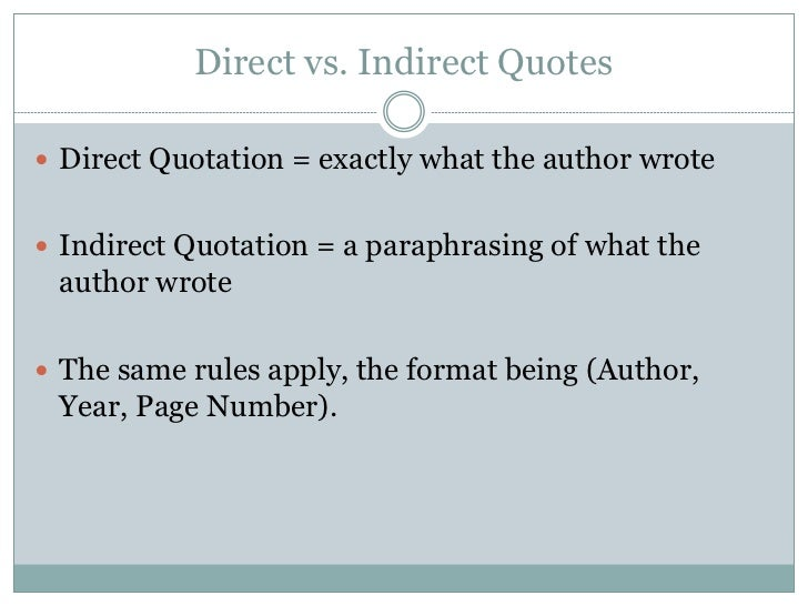 Quotes in apa