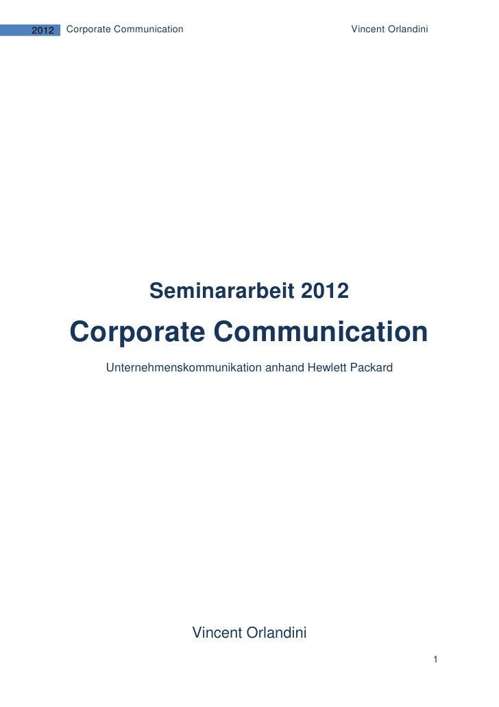 Seminararbeit 2012