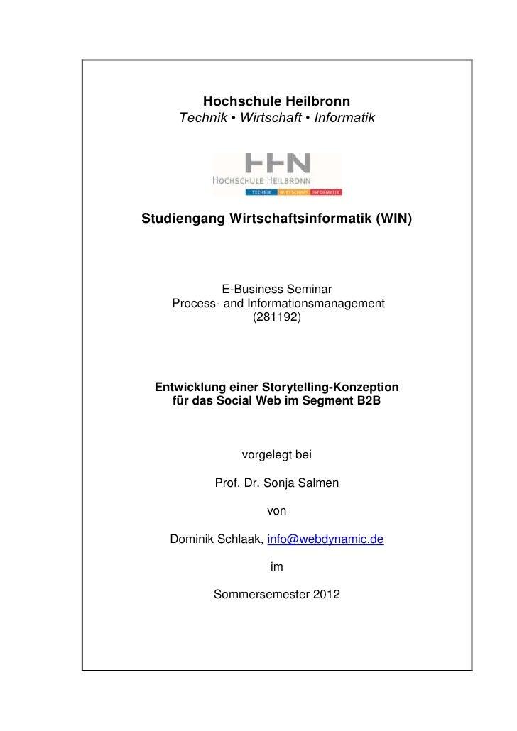 Hochschule Heilbronn     Technik • Wirtschaft • InformatikStudiengang Wirtschaftsinformatik (WIN)             E-Business S...