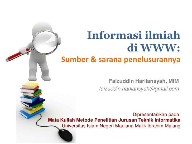 Informasi ilmiah di WWW