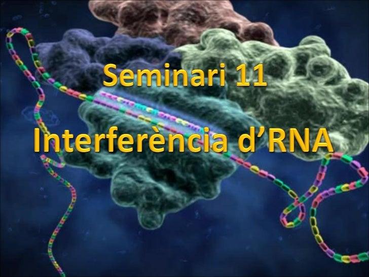 Interferència d'RNA
