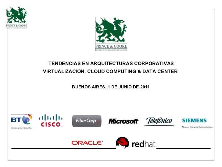 VIRTUALIZACION, CLOUD COMPUTING  & DATA CENTER   BUENOS AIRES, 1 DE JUNIO DE 2011   TENDENCIAS EN ARQUITECTURAS CORPORATIVAS