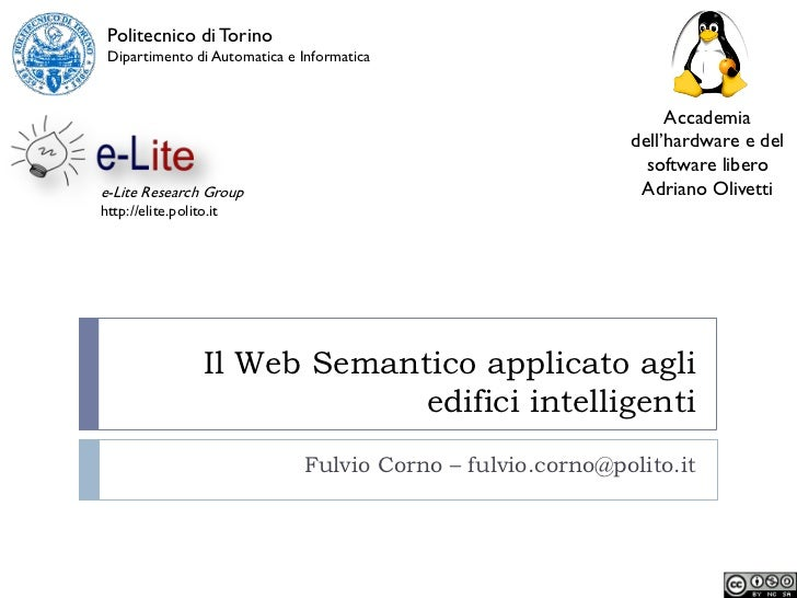 Il Web Semantico applicato agli edifici intelligenti