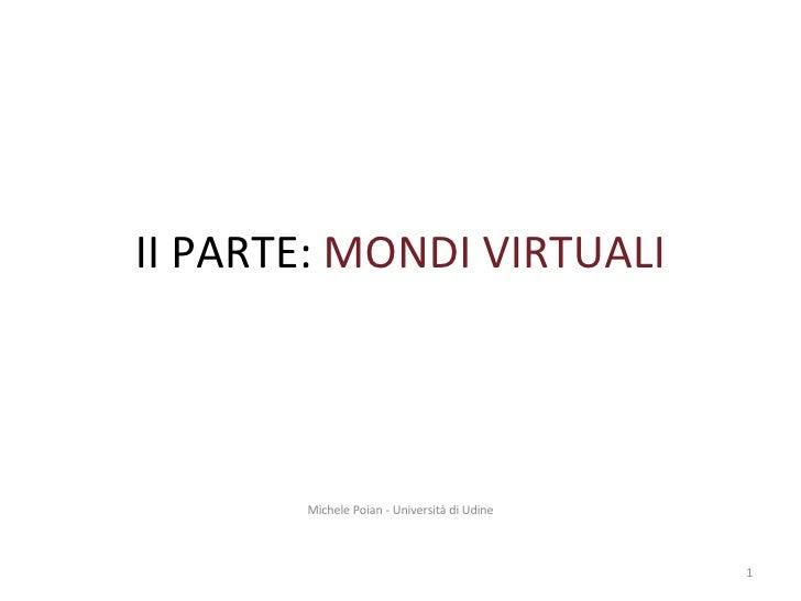 Seminario su Mondi Virtuali-Corso di OSIA