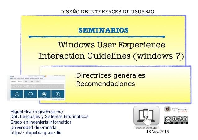 Seminario Guia de estilos de windows  2013