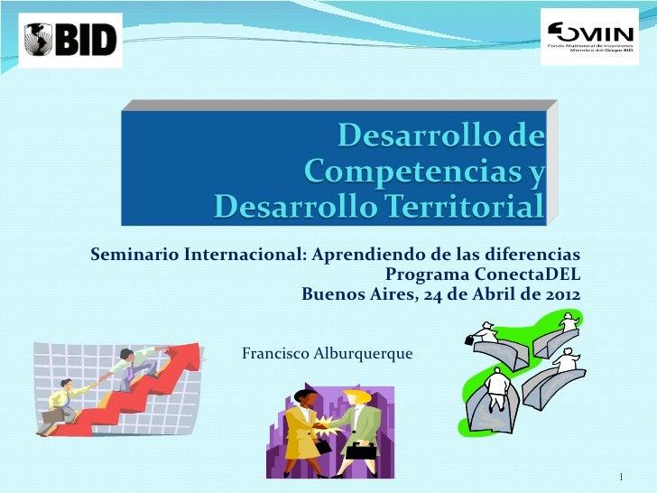 Seminario Internacional: Aprendiendo de las diferencias                                Programa ConectaDEL                ...