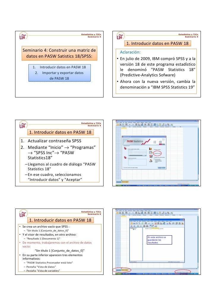 Estadística y TICs                                        Estadística y TICs                                              ...