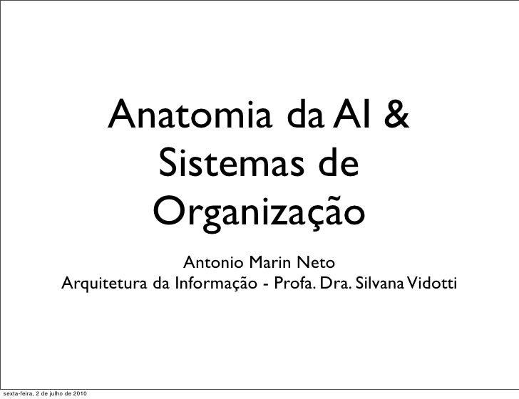 Anatomia da AI &                                     Sistemas de                                     Organização          ...