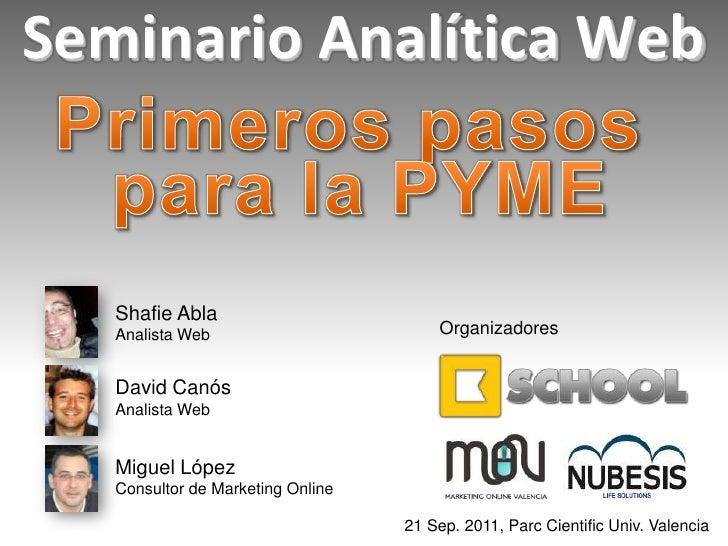 Seminario Analítica Web (1) 21/09/11