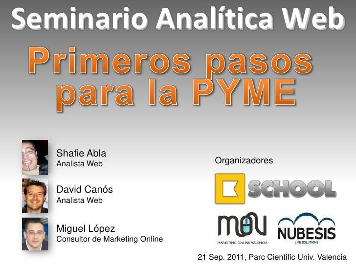Seminario Analítica Web (3) 21/09/11