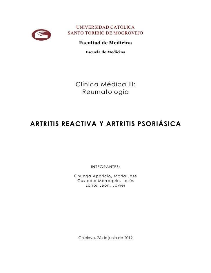 Seminario Artritis Reactiva y Psoriásica