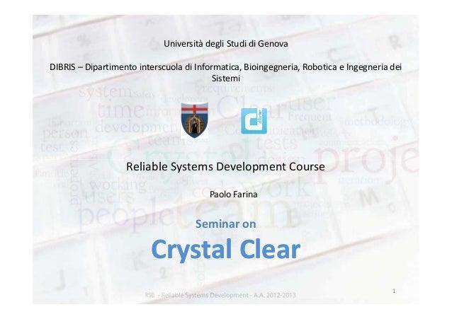 Università degli Studi di GenovaDIBRIS – Dipartimento interscuola di Informatica, Bioingegneria, Robotica e Ingegneria dei...
