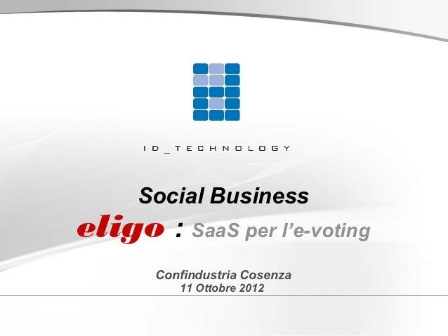 Nuovi modelli organizzativi e marketing di Social Business - Luigi Pugliatti