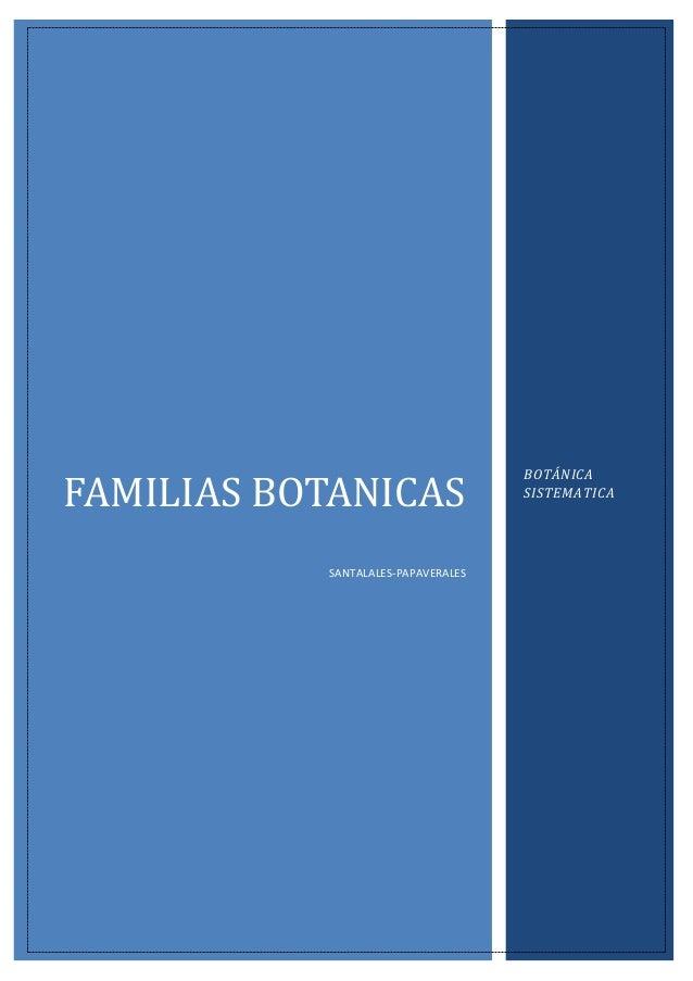 ordenes de y familias botánica