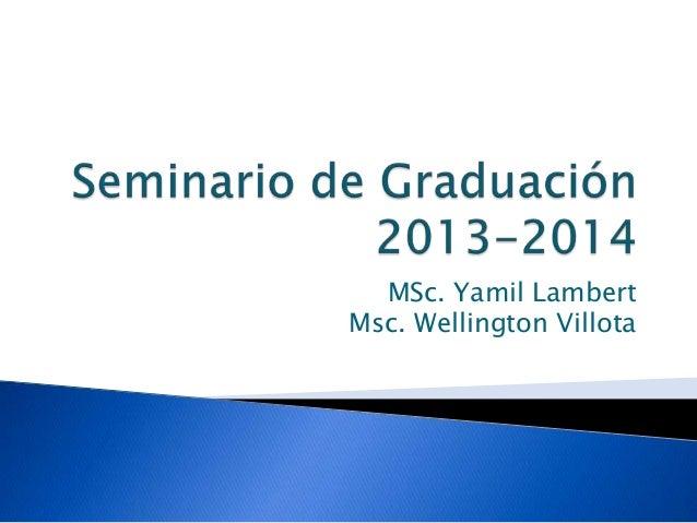 Seminario de graduación UCSG 2013 2014