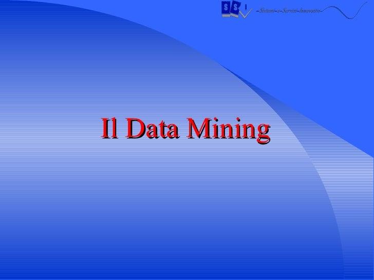Il Data Mining