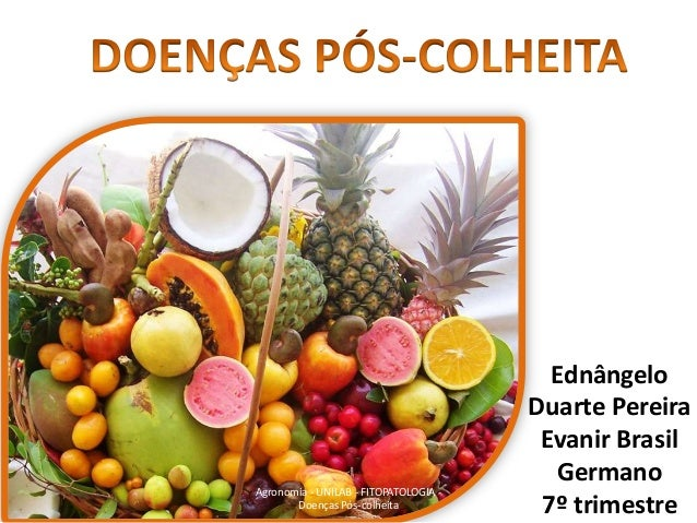 Agronomia - UNILAB - FITOPATOLOGIA Doenças Pós-colheita  Ednângelo Duarte Pereira Evanir Brasil Germano 7º trimestre