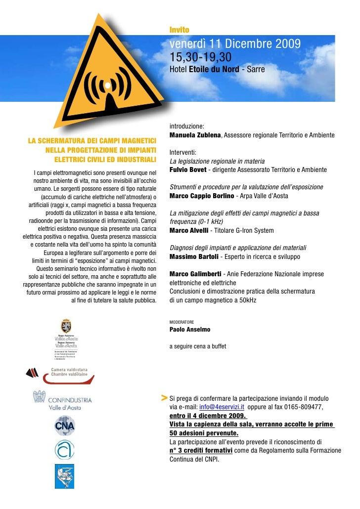Invito                                                                    venerdì 11 Dicembre 2009                        ...