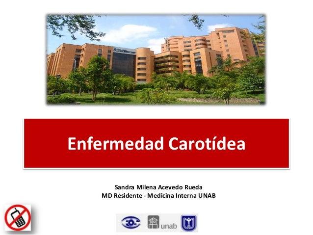 Enfermedad Carotídea Sandra Milena Acevedo Rueda MD Residente - Medicina Interna UNAB
