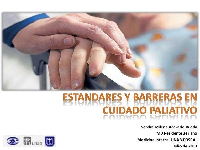 SEMINARIO Estandares y barreras cuidado paliativo
