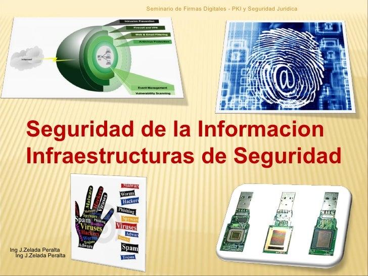 Seguridad de la Informacion  Infraestructuras de Seguridad Seminario de Firmas Digitales - PKI y Seguridad Juridica Ing J....