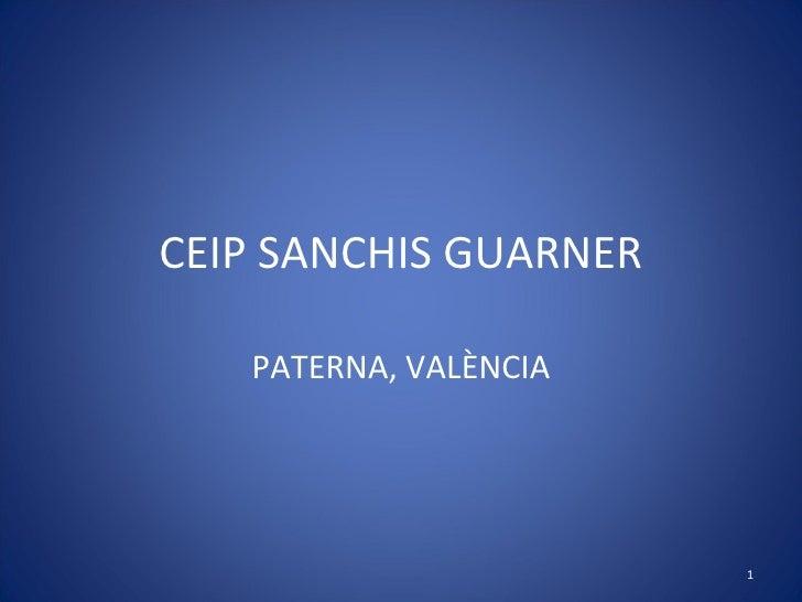 CEIP SANCHIS GUARNER PATERNA, VALÈNCIA