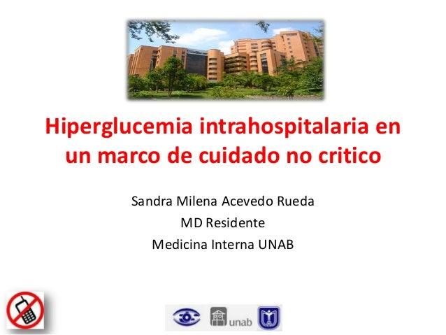 SEMINARIO Insulinoterapia en paciente hospitalizado