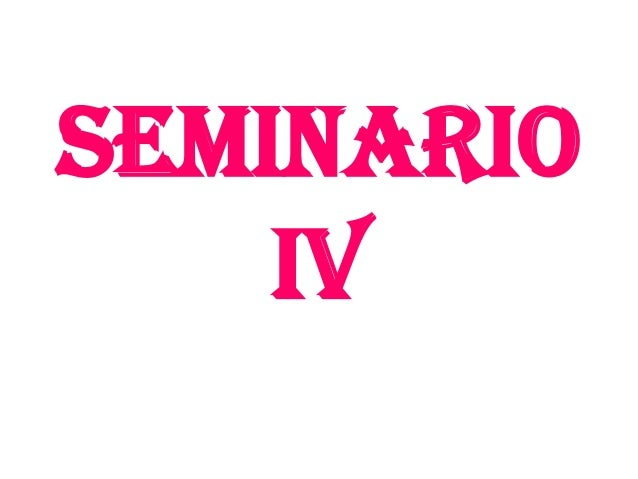 Seminario IV