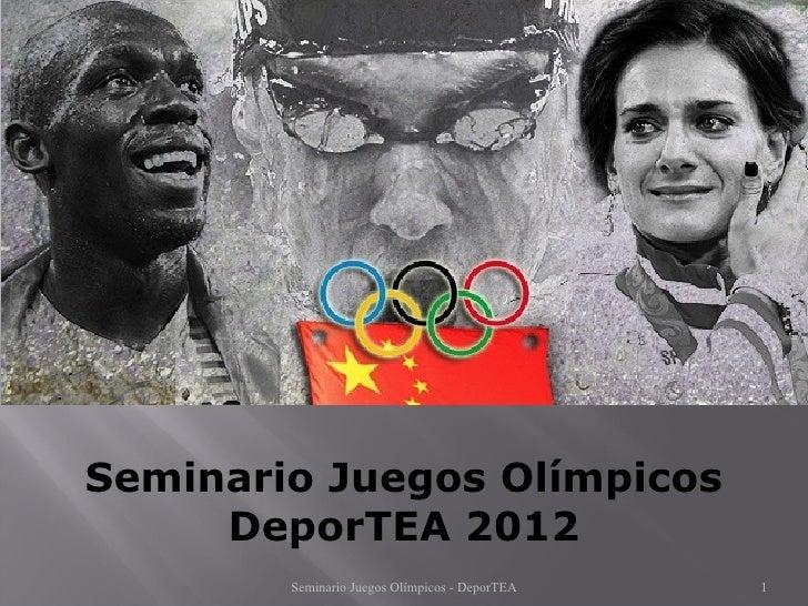 Seminario juegos olímpicos 2012