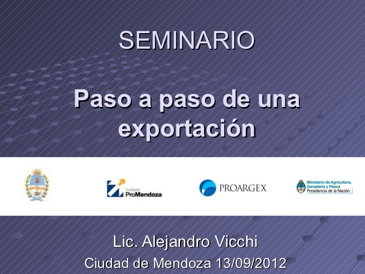 Seminario: Paso a paso - secuencia operativa de una exportación