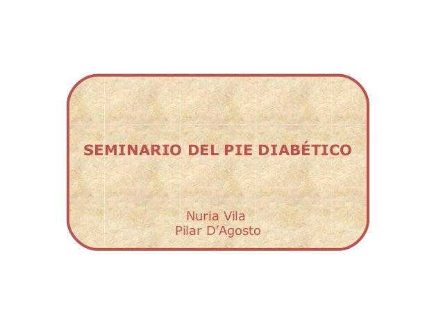 Seminario pie diabetico