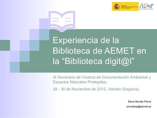 Seminario RECIDA-AEMET