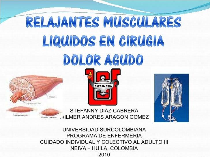 STEFANNY DIAZ CABRERA WILMER ANDRES ARAGON GOMEZ UNIVERSIDAD SURCOLOMBIANA PROGRAMA DE ENFERMERIA CUIDADO INDIVIDUAL Y COL...