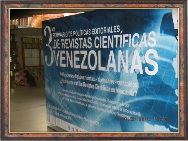 TERCER SEMINARIO REVISTAS CIENTÍFICAS VENEZOLANAS