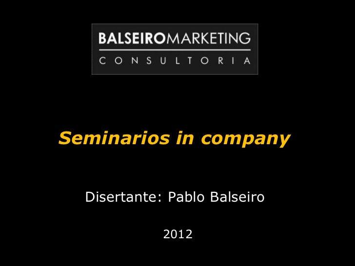 Seminarios y Charlas 2012