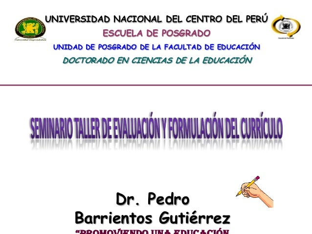 Evaluación y Formulación del Currículo