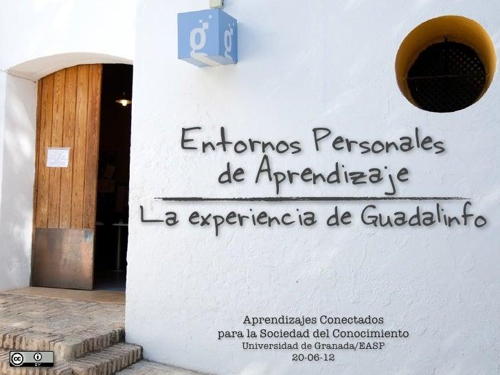 Entornos Personales     de AprendizajeLa experiencia de Guadalinfo          Aprendizajes Conectados      para la Sociedad ...