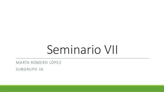 Seminario VII MARTA ROMERO LÓPEZ SUBGRUPO 16