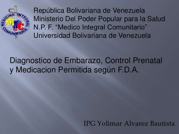"República Bolivariana de Venezuela      Ministerio Del Poder Popular para la Salud      N.P. F. ""Medico Integral Comunitar..."