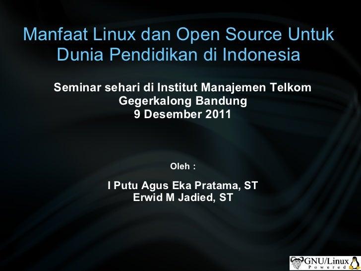Seminar linux di im telkom 9 des 2011