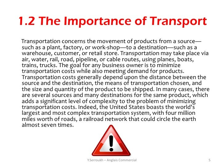 Very Short Essay on Transport and Communication