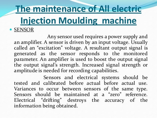 Injection Moulding Machine Maintenance Schedule Seminar On