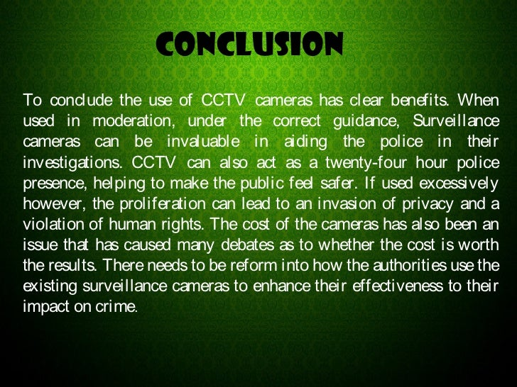 USE OF CCTV CAMERAS (IELTS ESSAY)
