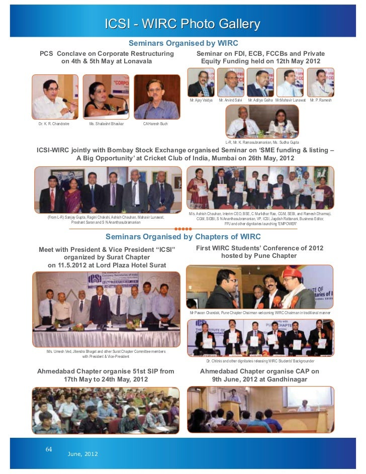 ICSI - WIRC Photo Gallery                                                        Seminars Organised by WIRCPCS Conclave on...