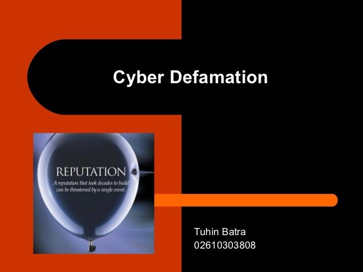 cyber defamation Tina's cyber bullying defamation lawsuit background the crux of this cyberbullying law case centers on a phony facebook profile the page is made to look like tina controls it and includes childish barbs.