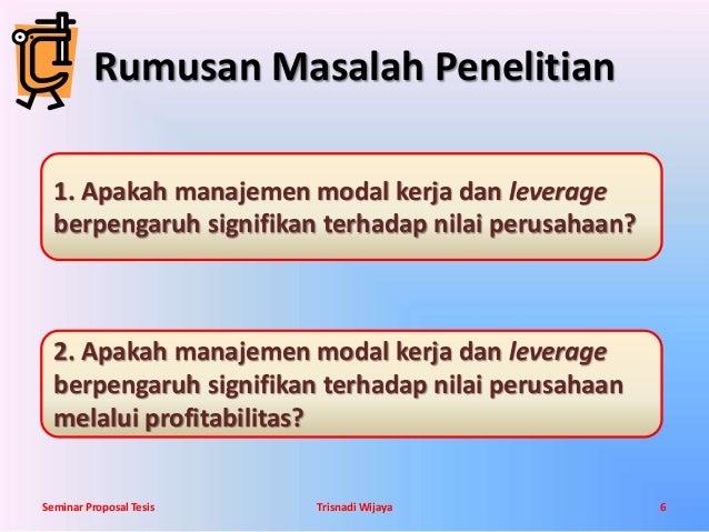 Contoh Slide Presentasi Proposal Penelitian yang Bagus