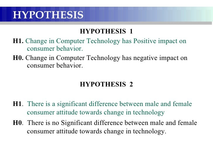 statement of hypothesis in research paper