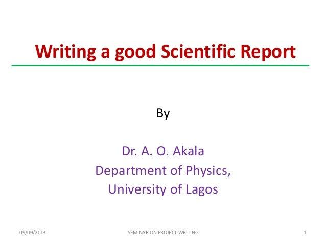 Seminar scientific report